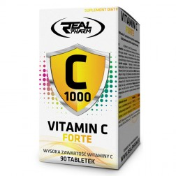 Real Pharm Vitamin C Forte / Витамин С + биофлавоноиди и шипка 90 таблетки (90 дози)